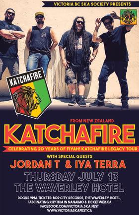 KATCHAFIRE'S 20TH ANNIVERSARY CONCERT (Cumberland show): KATCHAFIRE, Iya Terra, Jordan T @ The Waverley Hotel Jul 13 2017 - Sep 26th @ The Waverley Hotel
