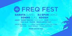 Freq Fest 2017: see fb event for details - Sep 17th @ Copper Owl