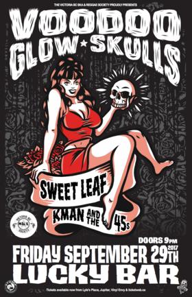 VOODOO GLOW SKULLS, SWEETLEAF & KMAN & THE 45S come to Lucky Bar!: Voodoo Glow Skulls, Sweet Leaf, Kman and the 45s @ Lucky Bar Sep 29 2017 - Sep 26th @ Lucky Bar