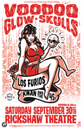 Voodoo Glow Skulls, Los Furios, Kman and the 45s @ Rickshaw Theatre Sep 30 2017 - Feb 20th @ Rickshaw Theatre
