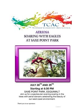 AERIOSA, SOARING WITH THE EAGLES: AERIOSA @ Saxe Point Park Jul 28 2017 - Jan 21st @ Saxe Point Park