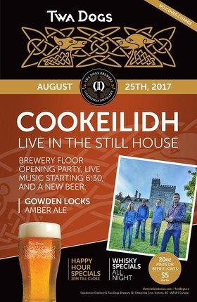 Cookeilidh @ Victoria Caledonian Distillery & Brewery Aug 25 2017 - Sep 24th @ Victoria Caledonian Distillery & Brewery
