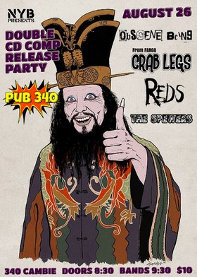 NYB Compilation Release: Obscene Being, Crab Legs, Reds, Spewers @ Pub 340 Aug 26 2017 - Oct 30th @ Pub 340