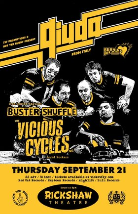GIUDA  (Italy), Buster Shuffle  (UK), Vicious Cycles MC @ Rickshaw Theatre Sep 21 2017 - Feb 20th @ Rickshaw Theatre