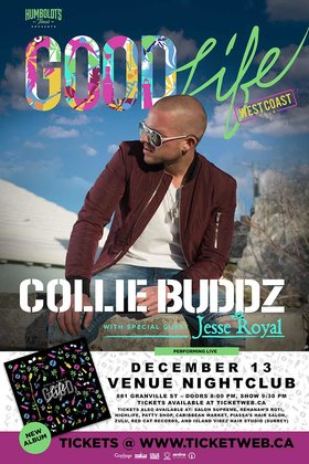 COLLIE BUDDZ, JESSE ROYAL @ Venue Dec 13 2017 - Sep 20th @ Venue
