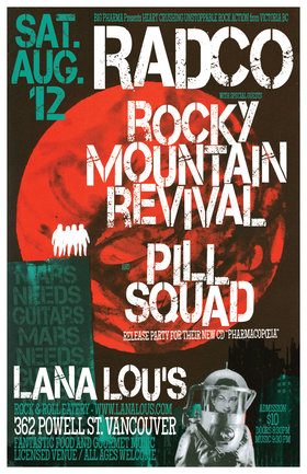 RADCO, Rocky Mountain Revival, Pill Squad @ LanaLou's Aug 12 2017 - May 31st @ LanaLou's