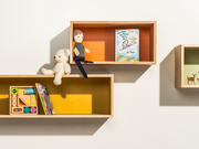1-2-3 Floating Shelves by  Happy Deer Design