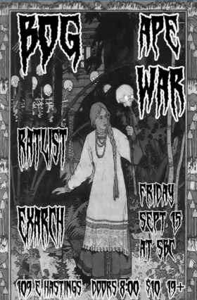 BOG, Ape War, RATLIST, ExArch @ SBC Restaurant Sep 15 2017 - May 26th @ SBC Restaurant