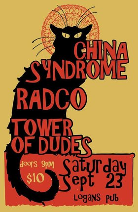 China Syndrome (Powerpop post-fun punk-pop from Vancouver): China Syndrome, The Tower of Dudes, RADCO @ Logan's Pub Sep 23 2017 - May 31st @ Logan's Pub