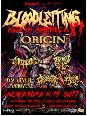 Origin, Archspire, Defeated Sanity, Dyscarnate, Visceral Disgorge, The Kennedy Veil @ Live at Rickshaw Nov 15 2017 - Dec 17th @ Live at Rickshaw