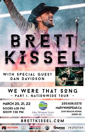 We Were That Song Tour: Brett Kissel, Dan Davidson @ The Mary Winspear Centre Mar 20 2018 - Dec 7th @ The Mary Winspear Centre