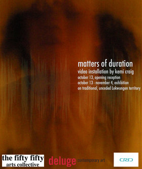 matters of duration; a workshop: Kemi Craig - Sep 17th @ the fifty fifty arts collective