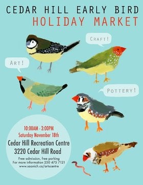 Early Bird Holiday Market: Cedar Hill Studio Artist @ The Arts Centre at Cedar Hill  Nov 18 2017 - Jul 14th @ The Arts Centre at Cedar Hill