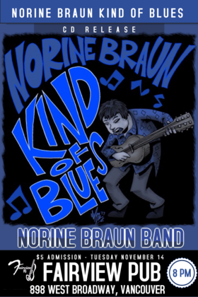 Kind of Blues CD Release: Norine Braun Trio @ Fairview Pub Nov 14 2017 - Dec 7th @ Fairview Pub