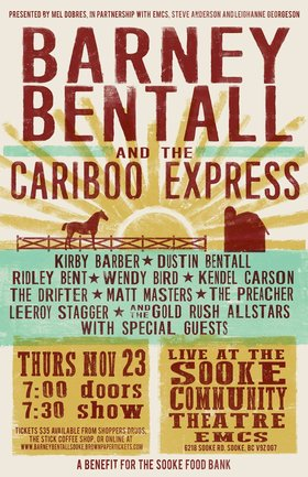 Barney Bentall and the Cariboo Express: Barney Bentall and the Cariboo Express @ EMCS Nov 23 2017 - Jan 22nd @ EMCS