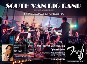 Big Band Jazz at Fairview Pub: South Van Big Band, Ikuko @ Fairview Pub Nov 26 2017 - Nov 17th @ Fairview Pub