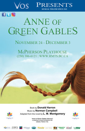 Anne of Green Gables @ McPherson Playhouse Nov 24 2017 - Jan 15th @ McPherson Playhouse