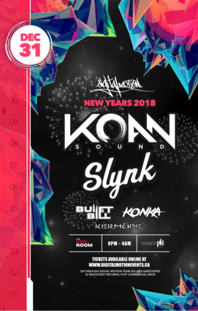 NYE 2018 ft.: Koan Sound, SLYNK @ The Red Room Dec 31 2017 - Aug 18th @ The Red Room