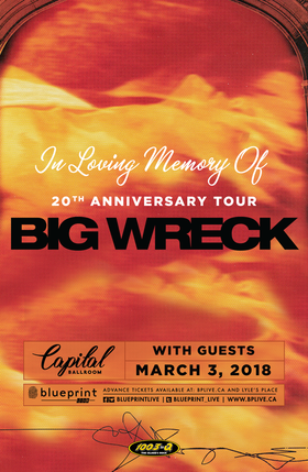 20th Anniversary Tour: Big Wreck, Jesse Roper @ Capital Ballroom Mar 3 2018 - Dec 9th @ Capital Ballroom