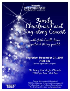 FAMILY CHRISTMAS CAROL SING-ALONG CONCERT @ St. Mary's Anglican Church Dec 21 2017 - Jun 6th @ St. Mary's Anglican Church
