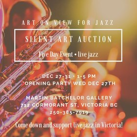 Art For Jazz- Save Hermans Jazz Club Art Auction @ Martin Batchelor Gallery Dec 27 2017 - Jul 2nd @ Martin Batchelor Gallery