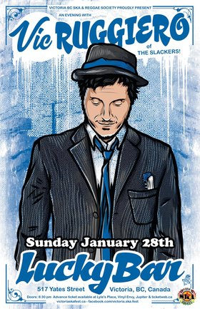 AN EVENING WITH VIC RUGGIERO OF THE SLACKERS (Solo Acoustic): Vic Ruggiero @ Lucky Bar Jan 28 2018 - Sep 26th @ Lucky Bar
