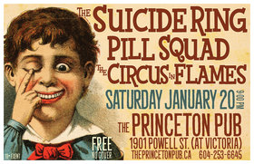 The Suicide Ring, Doug Andrew, Pill Squad @ Princeton Pub Jan 20 2018 - Aug 21st @ Princeton Pub