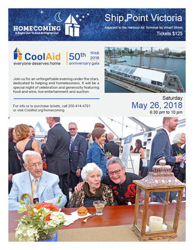 Homecoming 50th Anniversary Gala @ Ship Point (Inner Harbour) May 26 2018 - Mar 29th @ Ship Point (Inner Harbour)