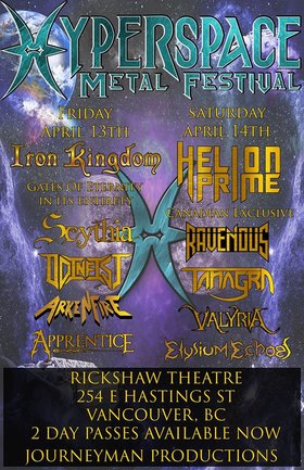 Iron Kingdom, Scythia, Odinfist, ArkenFire, Apprentice @ Rickshaw Theatre Apr 13 2018 - Feb 20th @ Rickshaw Theatre