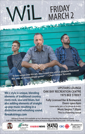 I Break Strings: Wil @ Upstairs Lounge - Oak Bay Recreation Centre Mar 2 2018 - Mar 31st @ Upstairs Lounge - Oak Bay Recreation Centre