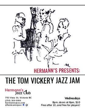 Hermann's Jazz Jam with the Tom Vickery Trio @ Hermann's Jazz Club May 30 2018 - Oct 18th @ Hermann's Jazz Club
