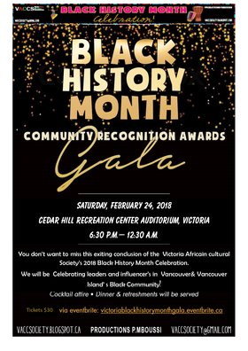 Black History/African Heritage Month Closing Gala @ The Arts Centre at Cedar Hill  Feb 24 2018 - Mar 8th @ The Arts Centre at Cedar Hill