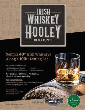 1st Annual Irish Whiskey Hooley: Cookeilidh, Knacker's Yard, Jordan Blaikie Magician @ The Yates Street Taphouse Mar 11 2018 - Sep 24th @ The Yates Street Taphouse