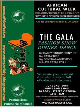 African Cultural Week - THE GALA @ White Eagle Polish Hall Jun 2 2018 - May 27th @ White Eagle Polish Hall