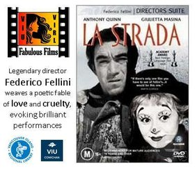 Fabulous Films: La strada @ Vancouver Island University - Cowichan Campus Apr 16 2018 - Apr 24th @ Vancouver Island University - Cowichan Campus