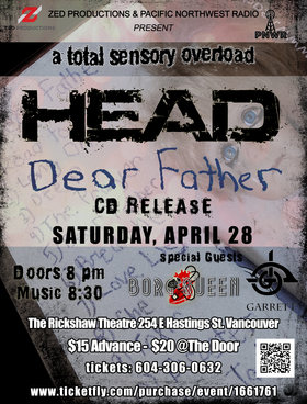 HEAD, Garrett, Borg Queen  @ Rickshaw Theatre Apr 28 2018 - Feb 20th @ Rickshaw Theatre