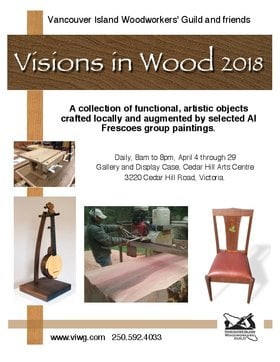 Visions in Wood 2018 @ The Arts Centre at Cedar Hill  Apr 10 2018 - Jan 16th @ The Arts Centre at Cedar Hill