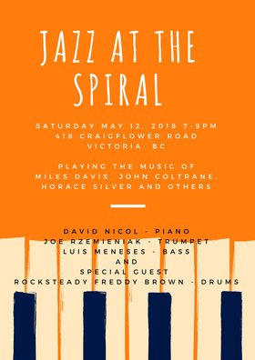 Jazz at the Spiral @ Spiral Cafe May 12 2018 - Oct 20th @ Spiral Cafe