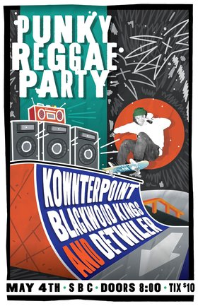 Punky Reggae Party: Kownterpoint, Blackwood Kings, Detwiler @ SBC Restaurant May 4 2018 - Dec 6th @ SBC Restaurant