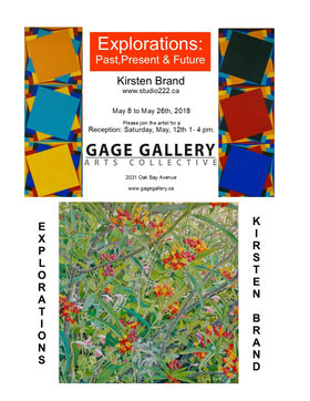 Explorations: Past, Present, and Future: Kirsten Brand @ Gage Gallery Arts Collective May 8 2018 - Oct 30th @ Gage Gallery Arts Collective