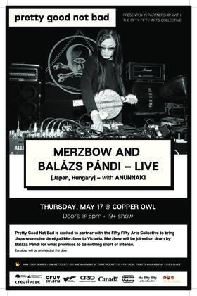 .: Merzbow & Balázs Pandi, The Anunnaki - Oct 20th @ Copper Owl