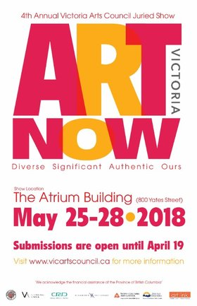 4th Annual Art Victoria Now @ The Atrium May 24 2018 - Feb 18th @ The Atrium