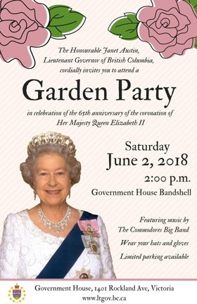 Garden Party: Commodores Big Band, Kim Greenwood @ Government House Bandshell, 1401 Rockland Ave. Jun 2 2018 - Dec 11th @ Government House Bandshell, 1401 Rockland Ave.