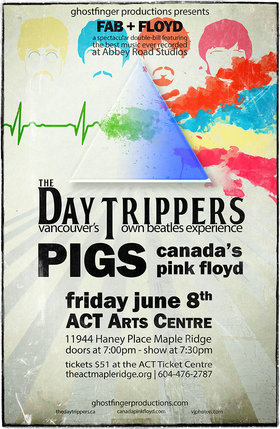 FAB & Floyd: The DAY TRIPPERS, Pigs @ The ACT Jun 8 2018 - Feb 17th @ The ACT