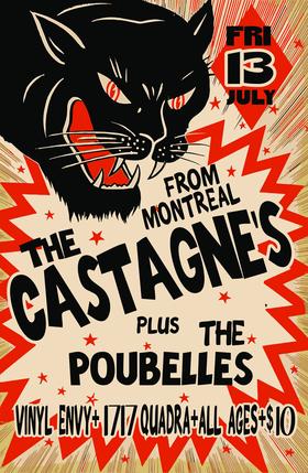 FRIDAY THE 13TH~!: The Poubelles, The Castagne's @ Vinyl Envy Jul 13 2018 - Oct 18th @ Vinyl Envy