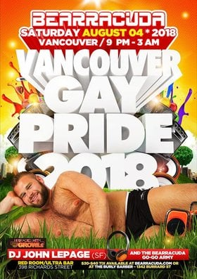 Bearracuda Vancouver: PRIDE 2018 upgraded w/ GROWLr! @ The Red Room Aug 4 2018 - Mar 22nd @ The Red Room