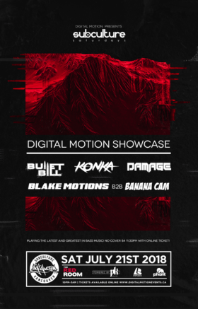 Digital Motion Showcase at SUBculture Saturdays @ The Red Room Jul 21 2018 - Mar 22nd @ The Red Room
