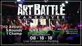 Art Battle Vancouver @ The Red Room Aug 18 2018 - Mar 23rd @ The Red Room