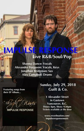 Impulse Response, Alexander Ferguson, Shanna Dance, Jonnie Bridgman @ Guilt & Co. Jul 29 2018 - Mar 23rd @ Guilt & Co.