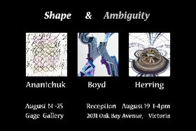 Shape & Ambiguity: Barry Herring  (photographer), Anita Boyd (painter), Agnes Ananichuk (printmaker/collage artist) @ Gage Gallery Arts Collective Aug 14 2018 - Oct 30th @ Gage Gallery Arts Collective